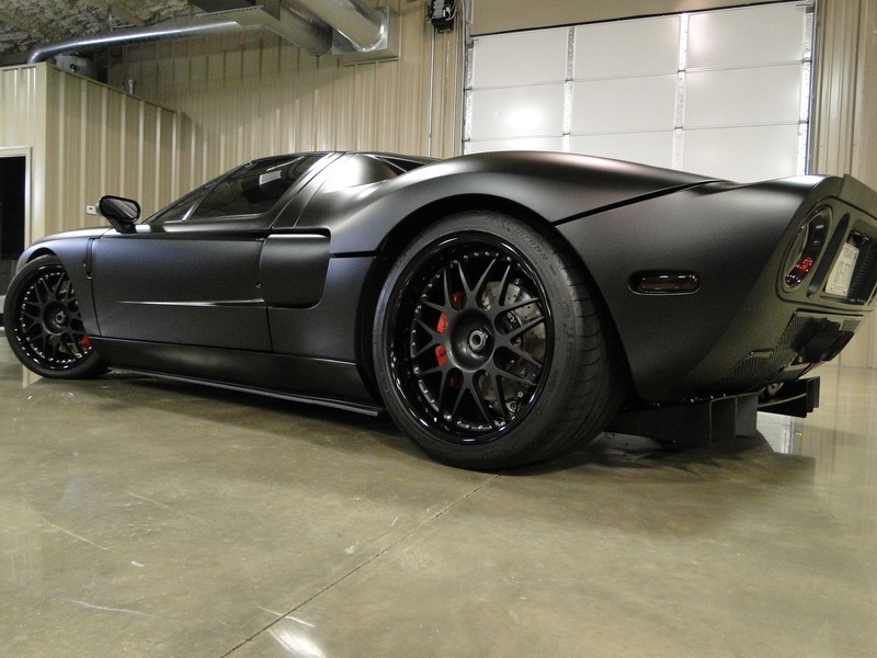 Matte black ford gt with heffner sc tt package