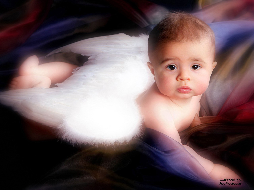 Babies wallpapers cute baby infants pictures on celebs world - Angel baby pictures wallpapers ...