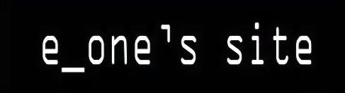 e_one's site
