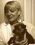 Author of Heidi&#39;s diary and owner of HiHo, with her six year old  Yorkie.