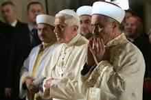 Pope Benedict Prays towards Mecca with Turkish Muslims