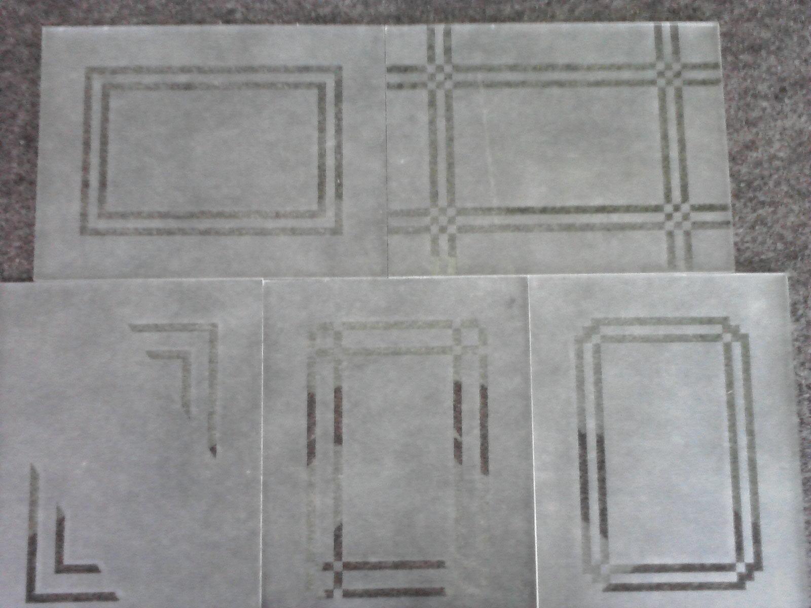 #61656A VIDRAÇARIA BAUER: Amostras/ Materiais 1588 Vidros Jateados Para Janelas