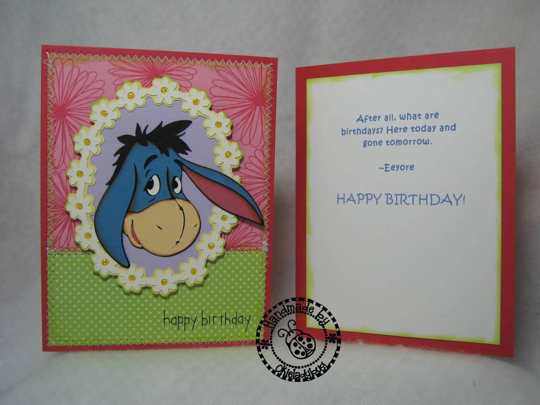 Okieladybugs Scrap N More Guess what todays card is – Eeyore Birthday Cards