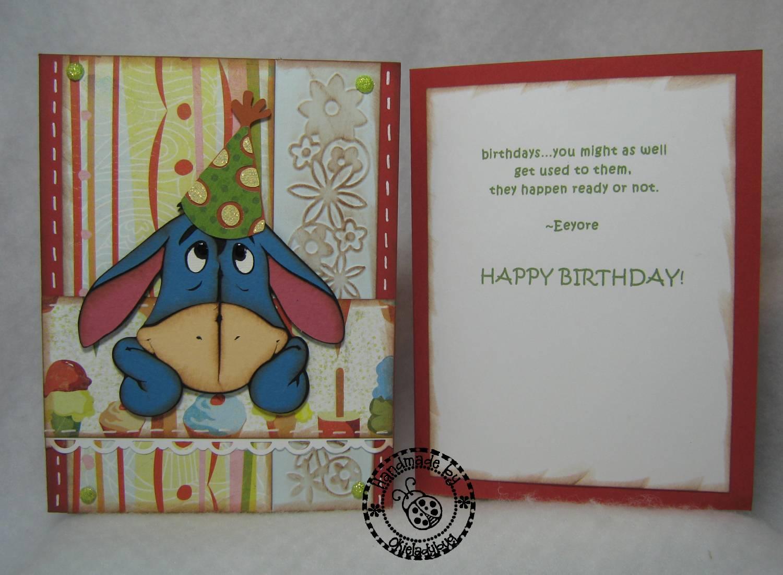 Okieladybugs Scrap N More And today is Eeyore – Eeyore Birthday Cards