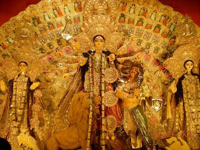 durga. Durga Puja Near Kasi Bose Lane