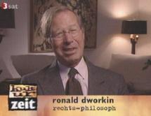 Ronald Dworkin in der Sendung 'Kulturzeit'