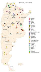 Mapa pueblos originarios
