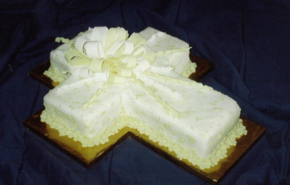 tortas de comunion en forma de cruz