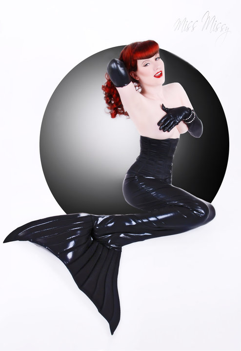 bettie page mermaid. as a Bettie Page tribute