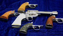 Colt single-action plowhandle grip was okay when handgun recoil was at black-powder levels.