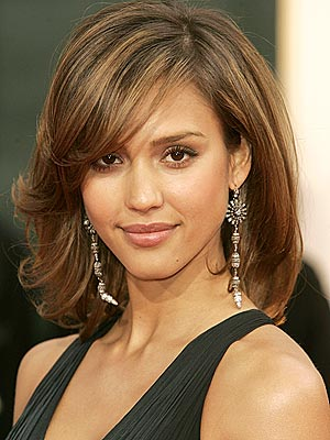 Picture of Long Hairstyles With Layers And Side Swept Bangs