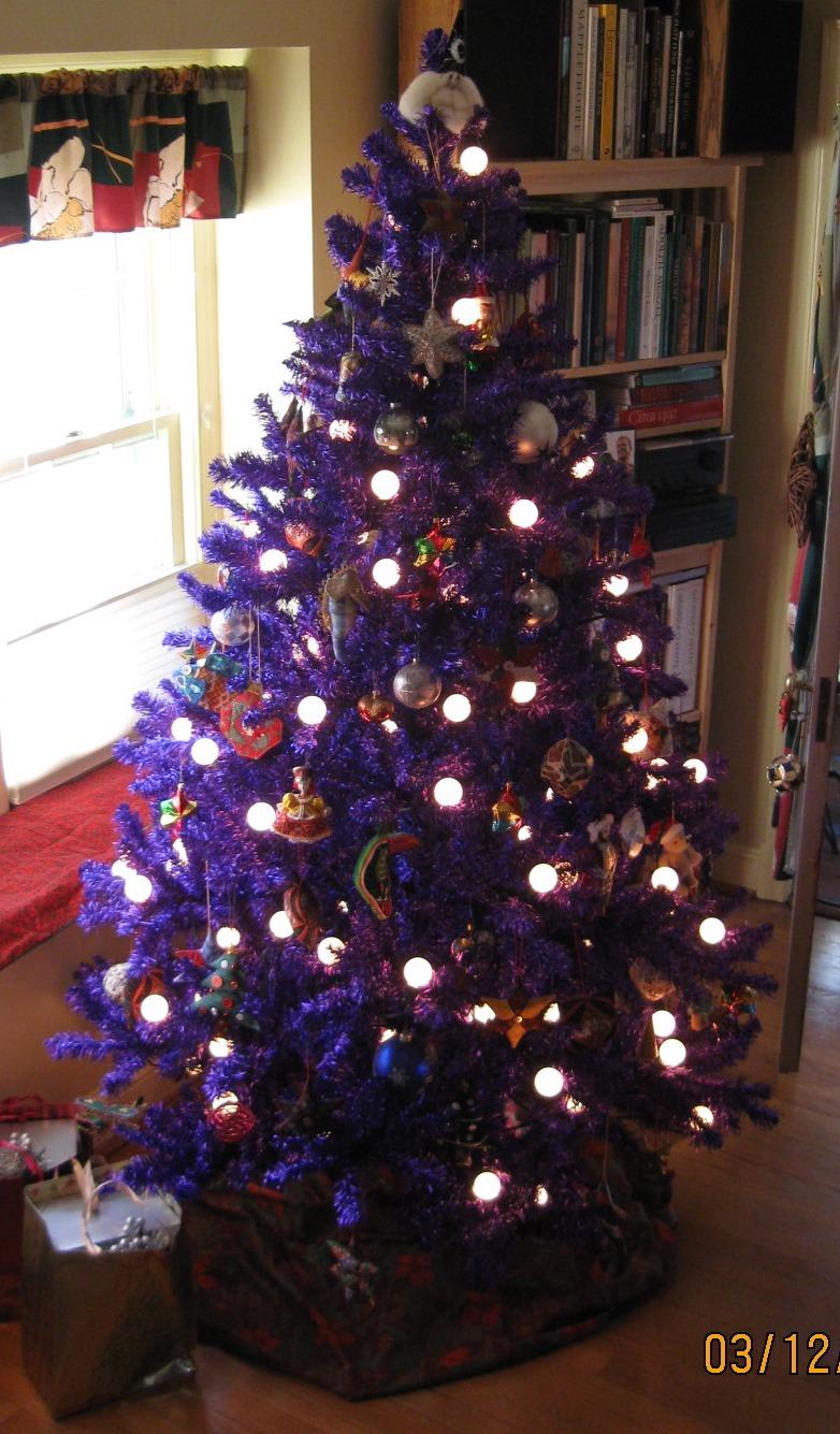 purple christmas cheer