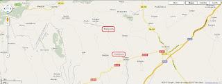 Mapa de carreteras en la zona de Armañanzas y Espronceda