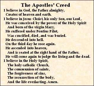 Why Do Presbyterians Say The Apostles Creed