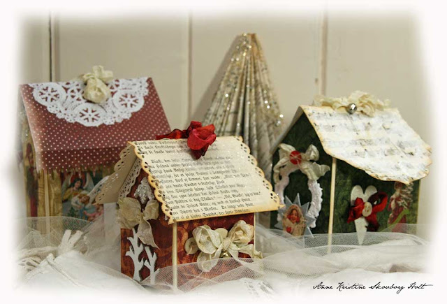 crafts for kids: christmas house, recycling ideas