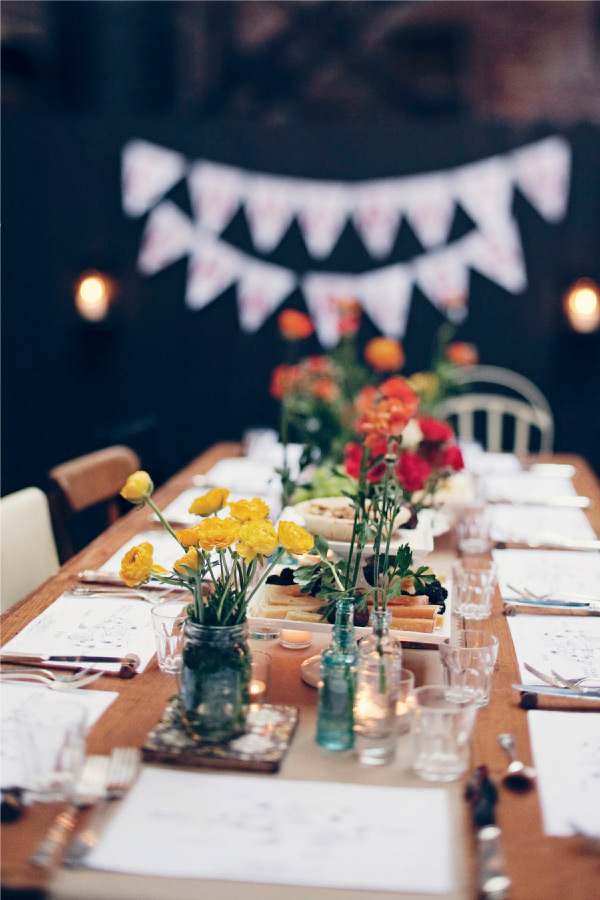 Room for dessert food party style outdoor dinner party
