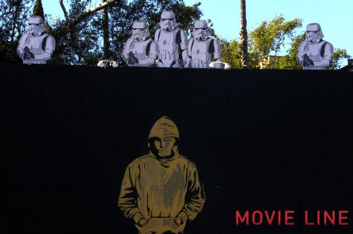 Mr brainwash new 39 banksy oscar 39 mural in la for Mural by mr brainwash