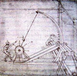 Flor de camalote inventos culinarios de leonardo da vinci for Catapulta di leonardo da vinci