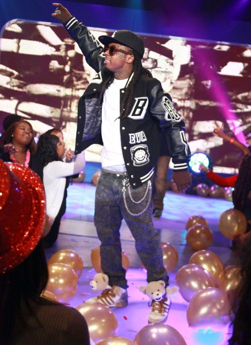 What or who possessed Lil Wayne to wear those Adidas teddy bear shoes?