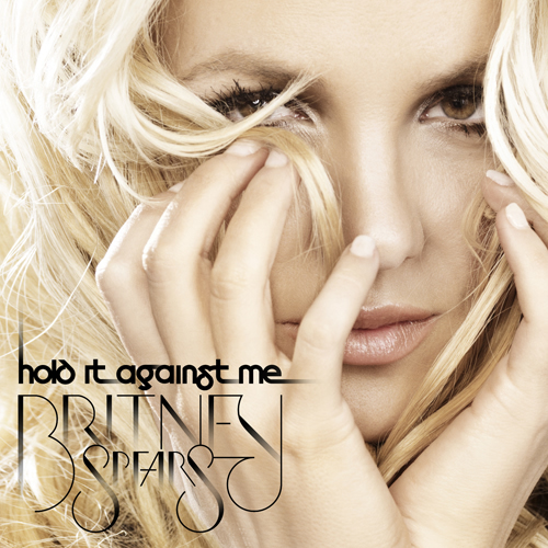 Britney Spears' single cover for Hold It Against Me is above.