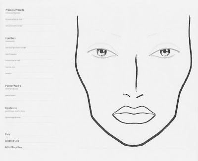 blank makeup face charts. makeup face charts. lank