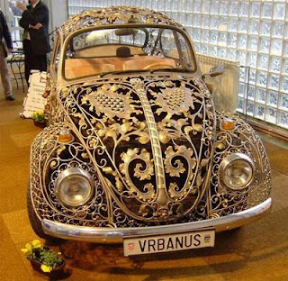 Steampunk by DreamSteam: Neo-Victorian VW Beetle ... and Other Wrought Iron Vehicles