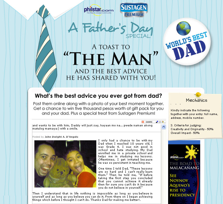 fathers day essay contest Father's day cards are frustratingly insincere — full of jokes about golf and grilling, they often lack any real sentiment about what the buyer's.