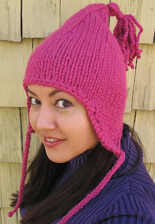 Pink Earflap Hat in Lion Brand Wool Ease Thick-n-Quick