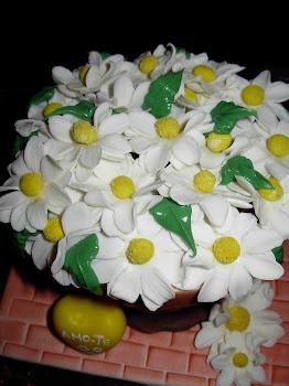 bolo dia dos namorados com flores