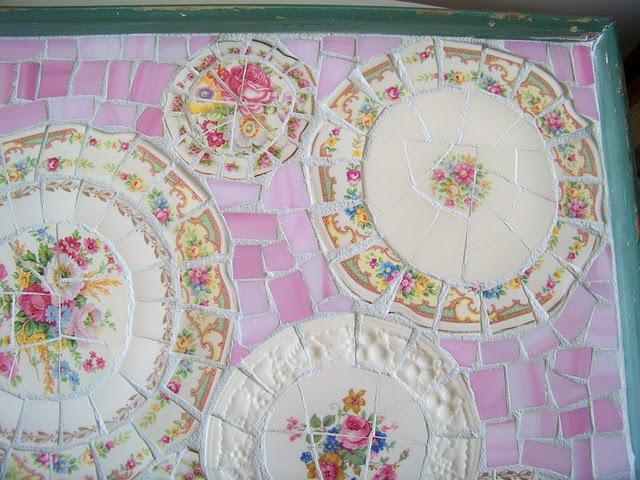 Мозаика из битой посуды своими руками мастер класс