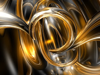3D Golden Stripes wallpaper