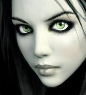 3D Girl Green Eye