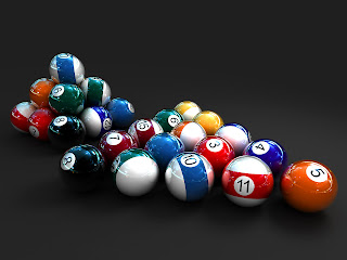 Billiard Balls in 3D wallpaper