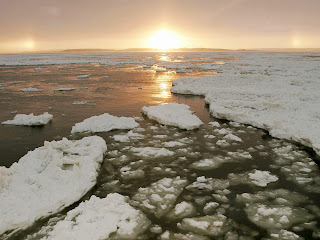 Churchill River at Sunset wallpaper