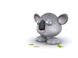 3D Koala Bear wallpaper