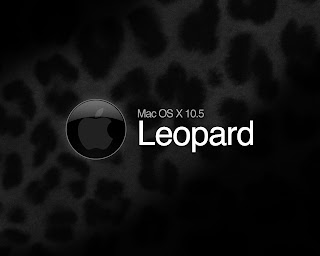 Mac OS X Leopard Black wallpaper