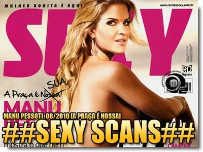 Revista Sexy Agosto de 2010 Manu Pessoti
