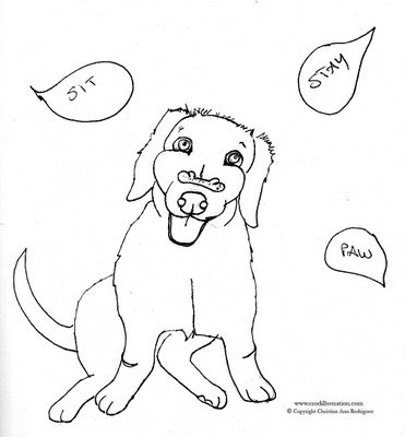 dogs colouring pages page 2