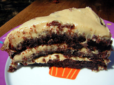 Chocolate-Peanut Butter Triple Layer Cake (from Sky High: Triple Layer ...