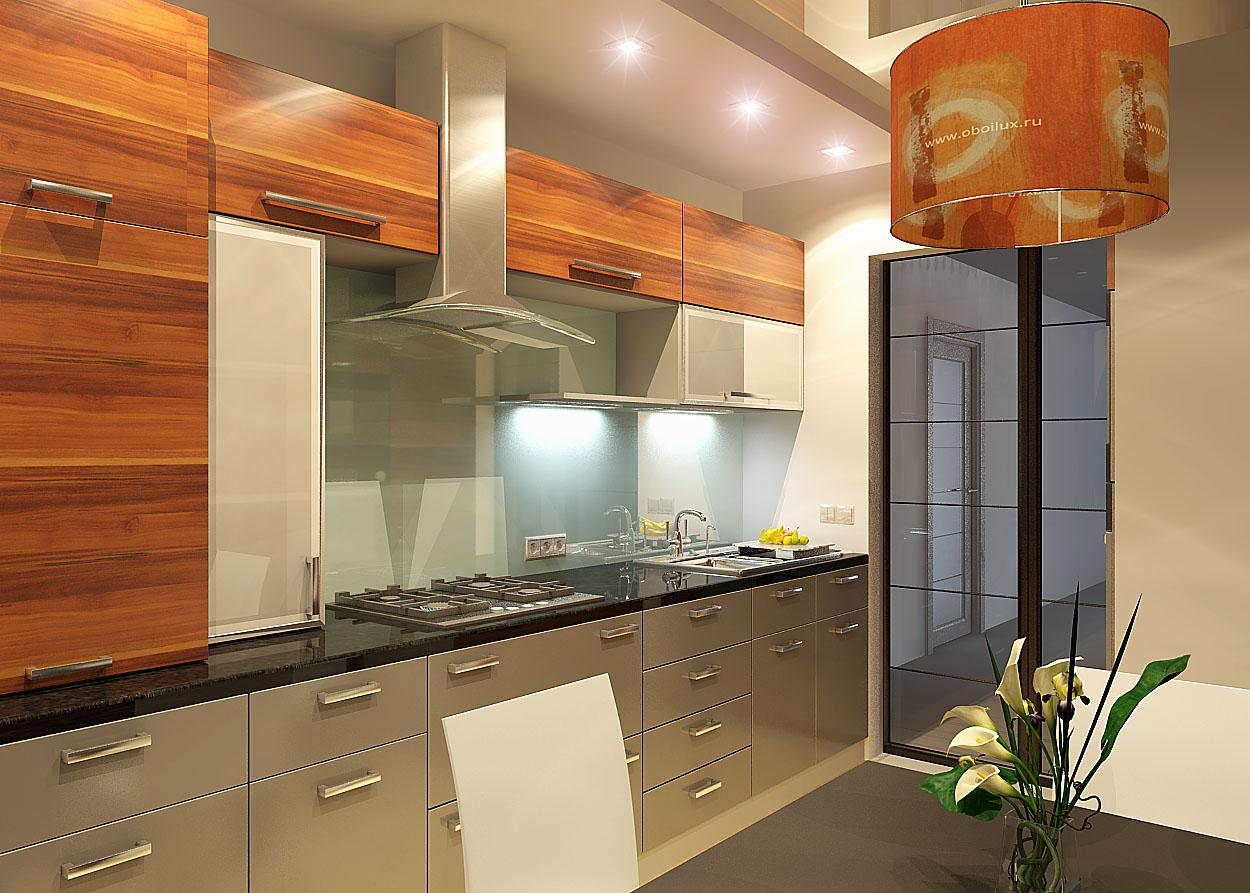 Дизайн кухни с котлом на стене