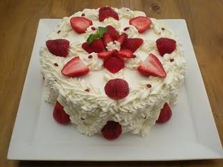 Torta de Frutilla con Merengue...