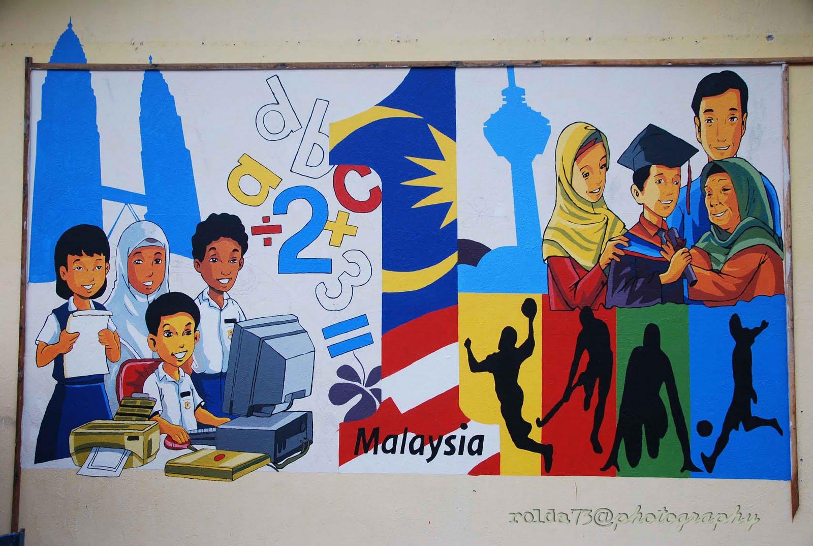 Pin mural sekolah on pinterest for Mural sekolah