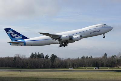 Boeing 747-8 Freighter maiden flight
