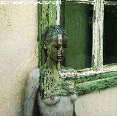 Body Painting - Camouflage - Window frame