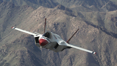 F 35 Lightning Ii Thunderbirds 35 Joint Strike Fighter In Thunderbirds Colors - International ...