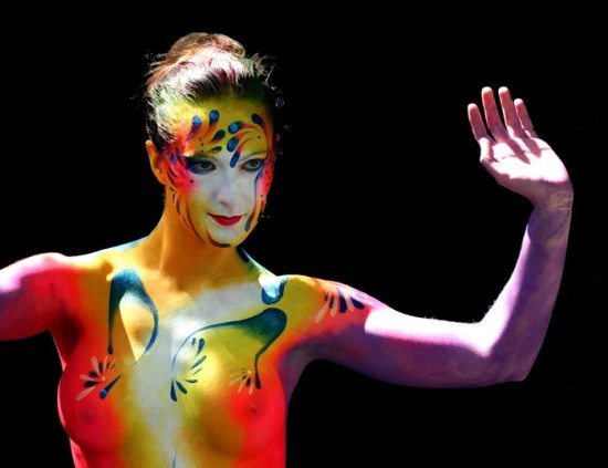 Argentina Body Painting - bodypaint a clothed woman
