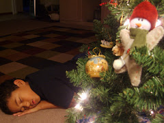 yes he's asleep under the tree
