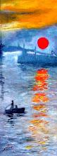 Soleil levant  d'après C. Monet - Origine du mouvement Impressioniste - Jicé
