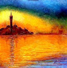 Crepusculo / Crépuscule à Venise d'après C.Monet - Jicé