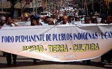Perú: Pueblos indígenas de la amazonía inician jornada nacional de lucha en Día de los Pueblos Indí
